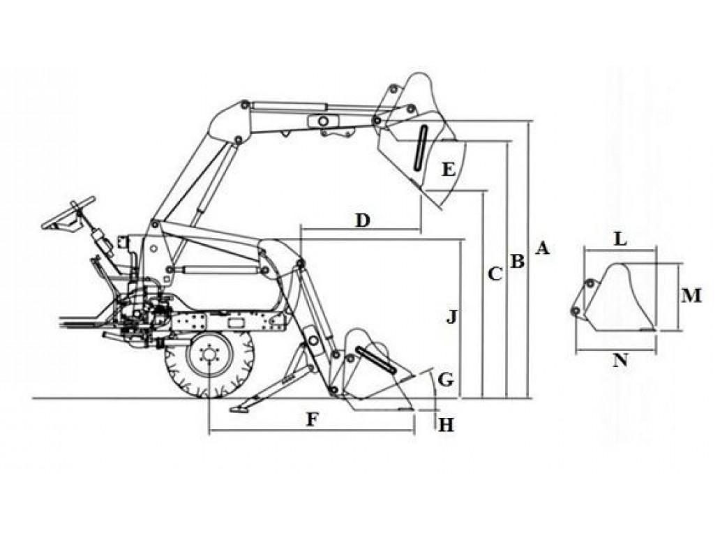 Фронтальный погрузчик BL15SL-QBDE
