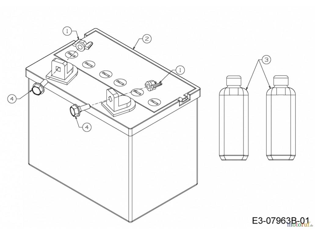 Аккумулятор для садового трактора 12 В 16 Ah арт. 725-1751